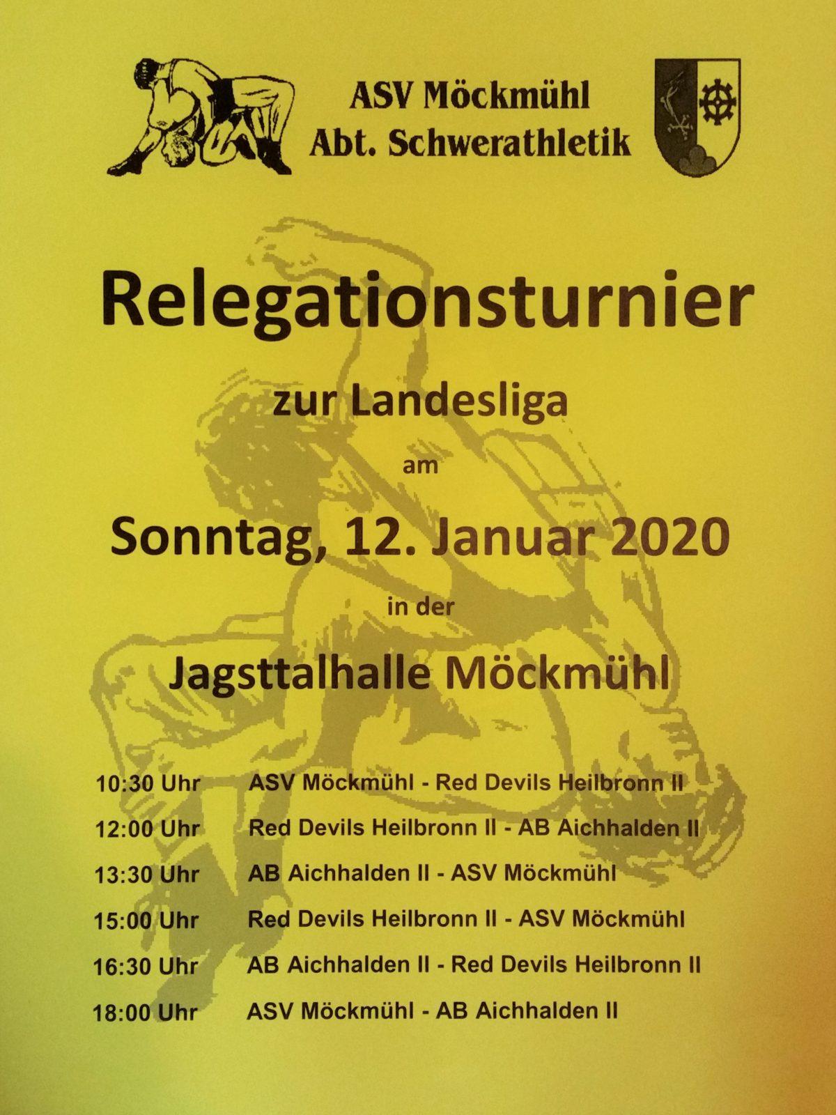 Relegationsturnier am 12. Januar